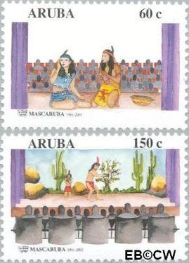 Aruba AR 264#265  2001 Mascaruba 40 jaar  cent  Postfris