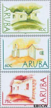 Aruba AR 294#296  2003 Lemen huisjes  cent  Postfris