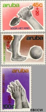 Aruba AR 64#66  1989 Kind  cent  Postfris