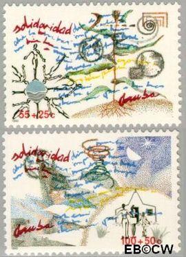 Aruba AR 78#79  1990 Solidariteit  cent  Postfris