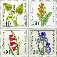 Berlin ber 650#653  1981 Bedreigde planten  Postfris