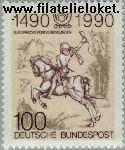 Bundesrepublik BRD 1445#  1990 Europese postroutes  Postfris
