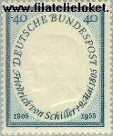 Bundesrepublik BRD 210#  1955 Schiller, Friedrich von  Postfris