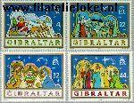 Gibraltar gib 586#589  1989 Bijbelse voorstellingen  Postfris