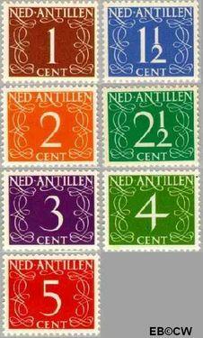 Nederlandse Antillen NA 211#217  1950 Type 'van Krimpen' 40 cent  Postfris