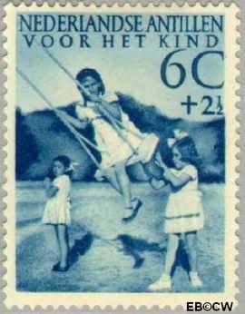 Nederlandse Antillen NA 236  1951 Kinderspelen  7½+2½ cent  Ongebruikt