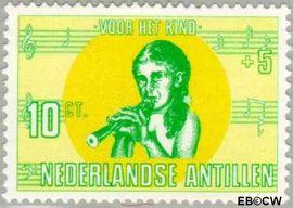 Nederlandse Antillen NA 417  1969 Kind en muziek 15 cent  Postfris