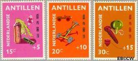 Nederlandse Antillen NA 442#444  1971 Speelgoed  cent  Postfris