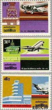 Nederlandse Antillen NA 509#511  1975 Luchthaven Aruba 15+5 cent  Postfris