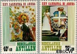 Nederlandse Antillen NA 616#617  1979 Arubaans carnaval 60 cent  Postfris