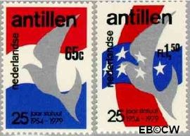Nederlandse Antillen NA 641#642  1979 Koninkrijks Statuut  cent  Postfris