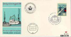 Nederlandse Antillen NA E70  1972 Ingebruikname droogdok 15 cent  FDC zonder adres