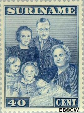 Suriname SU 209  1943 Bezoek Prinses Juliana 40 cent  Gestempeld