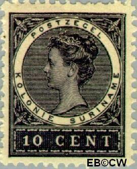 Suriname SU 48  1904 Medaillon 10 cent  Gestempeld