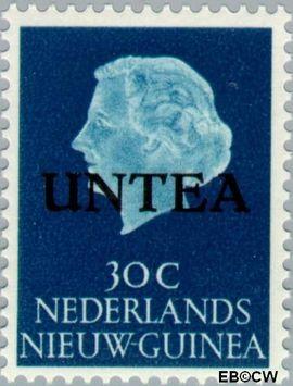 West-Nieuw-Guinea NG WNG7  1962 UNTEA opdruk 30 cent  Gestempeld