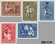 Nederland NL 649#653  1954 Opvoeding en leren   cent  Postfris