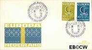 Nederland NL E80  1966 C.E.P.T.- Scheepje  cent  FDC zonder adres