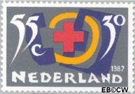 Nederland NL 1381  1987 Rode Kruis- Activiteiten 55+30 cent  Postfris
