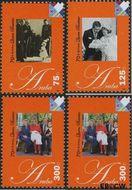 Aruba AR 388#391  2008 Koningin Beatrix  cent  Postfris