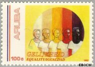 Aruba AR 107  1992 Gelijkheid 100 cent  Gestempeld