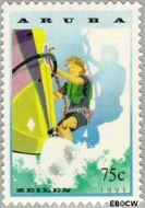 Aruba AR 127  1993 Zeilen 75 cent  Gestempeld