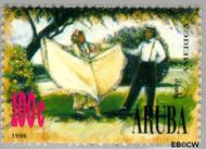 Aruba AR 177  1996 Klederdrachten 100 cent  Gestempeld