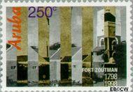 Aruba AR 208  1998 Fort Zoutman 250 cent  Gestempeld
