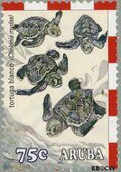 Aruba AR 308  2003 Schildpadden 75 cent  Gestempeld