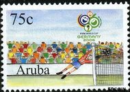 Aruba AR 361  2006 WK Voetbal 215 cent  Gestempeld