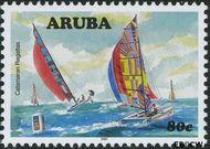 Aruba AR 385  2007 Catamaran regatta 80 cent  Gestempeld