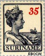 Suriname SU 99  1915 Scheepjes-type 35 cent  Gestempeld