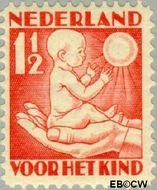 Nederland NL 232  1930 Jaargetijden 1½+1½ cent  Gestempeld