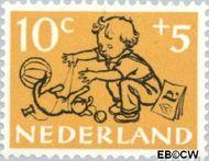 Nederland NL 599  1952 Kind en dier 10+5 cent  Gestempeld