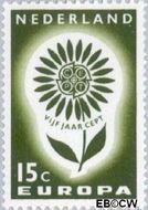 Nederland NL 827  1964 C.E.P.T.- Bloem 15 cent  Gestempeld