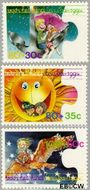 Aruba AR 148#150  1994 Kinderfantasie  cent  Gestempeld