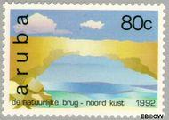 Aruba AR 117  1992 Natuurlijke bruggen 80 cent  Gestempeld