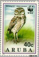 Aruba AR 137  1994 Wereld Natuur Fonds 40 cent  Gestempeld