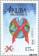 Aruba AR 248  2000 Millennium/Aidsbestrijding 115 cent  Gestempeld