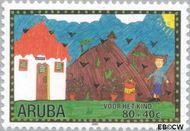 Aruba AR 258  2000 Kindertekeningen 80+40 cent  Gestempeld