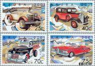 Aruba AR 266#269  2001 Klassieke auto's  cent  Gestempeld