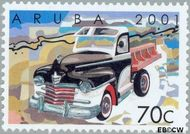 Aruba AR 268  2001 Klassieke auto's 70 cent  Gestempeld