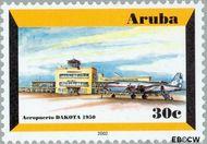 Aruba AR 278  2001 Luchthaven 30 cent  Gestempeld