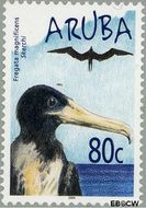 Aruba AR 318  2004 Watervogels 80 cent  Gestempeld