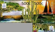 Aruba AR 360a#360b  2006 Int. Postzegeltentoonstelling Washington  cent  Gestempeld
