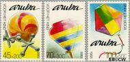 Aruba AR 51#53  1988 Kinderspelen  cent  Postfris