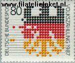 Bundesrepublik BRD 1309#  1987 Volkstelling  Postfris