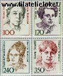 Bundesrepublik BRD 1390#1393  1988 Bekende vrouwen  Postfris