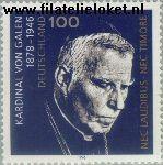 Bundesrepublik BRD 1848#  1996 Galen Clemens August Graf von  Postfris
