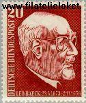 Bundesrepublik BRD 278#  1957 Baeck, Dr. Leo  Postfris