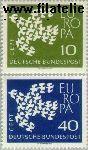 Bundesrepublik BRD 367#368  1961 C.E.P.T.- Vogels in vlucht  Postfris